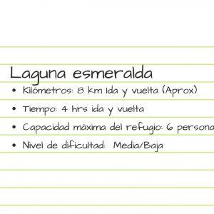 Laguna esmeralda recomendaciones